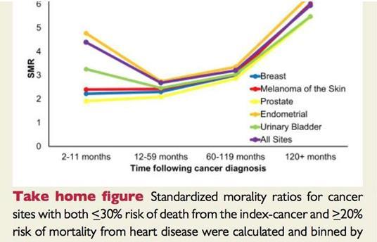 欧洲心脏病学会:癌症患者死于心脏病和中风的风险更高